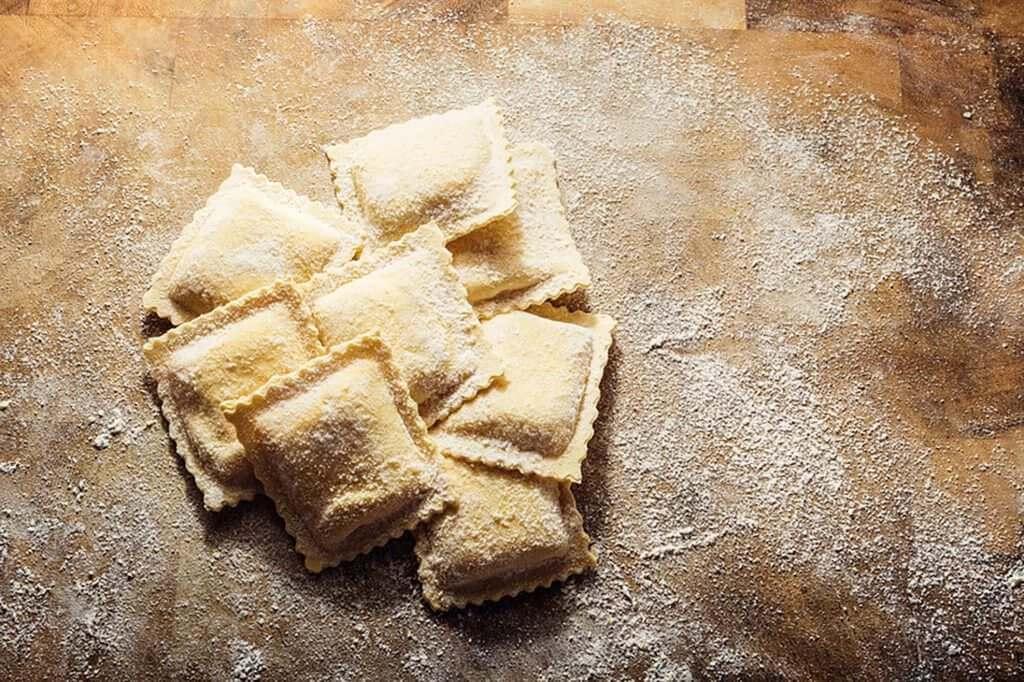 Ravioli creati con le nostre macchine per pasta -I&G