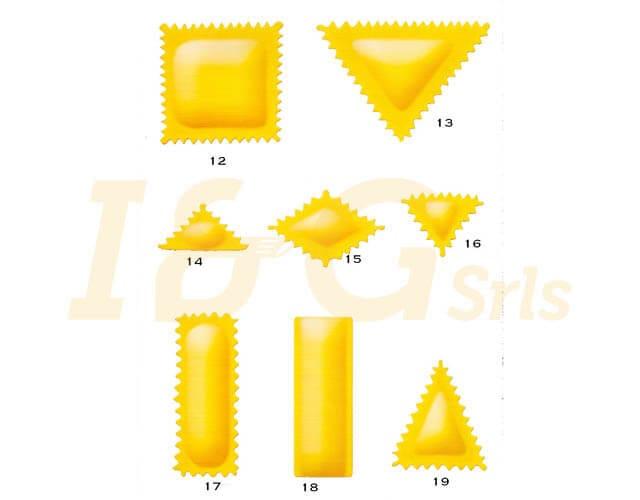ravioli di diverse forme fatti con la macchina per pasta - I&G